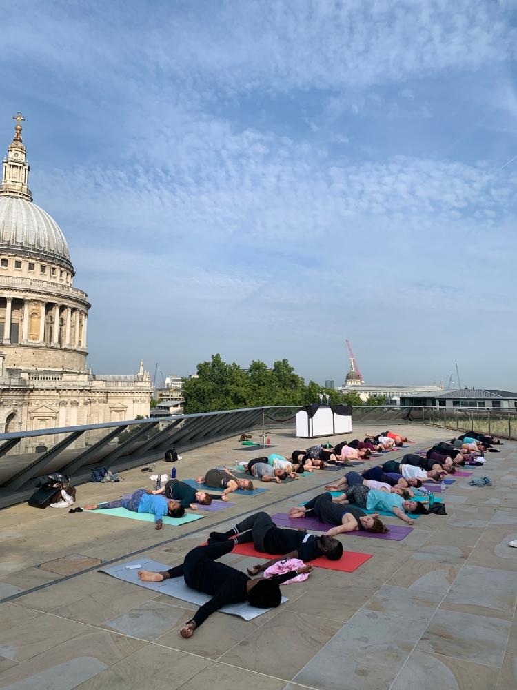 Sophie Dear rooftop yoga London