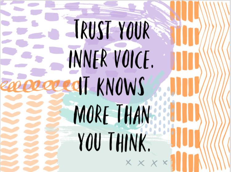trust your inner voice natasjaking