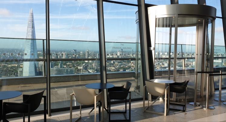 Sky Pod Bar, view towards Shard