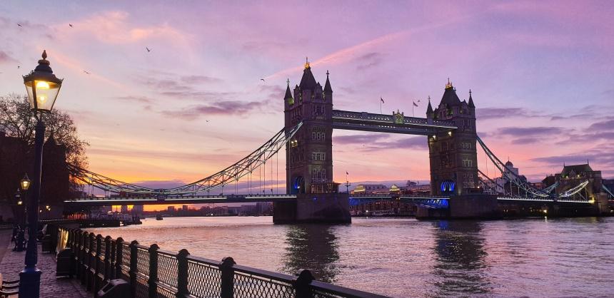 Sunrise Tower Bridge London