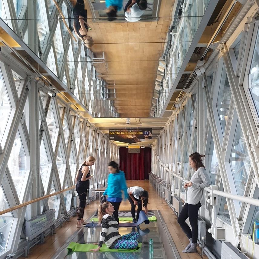 Yoga Tower Bridge Glass Floor