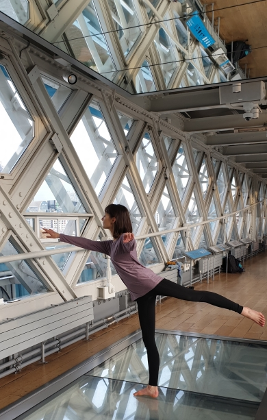 Yoga Tower Bridge Glass Floor