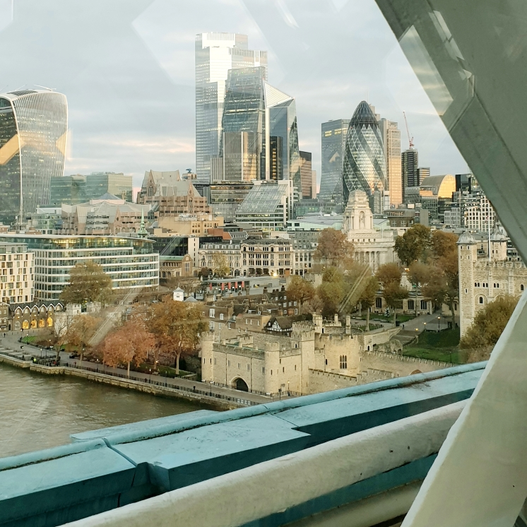 View from Tower Bridge towards City of London
